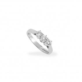 18k White Gold 3 Stone Diamond Ring